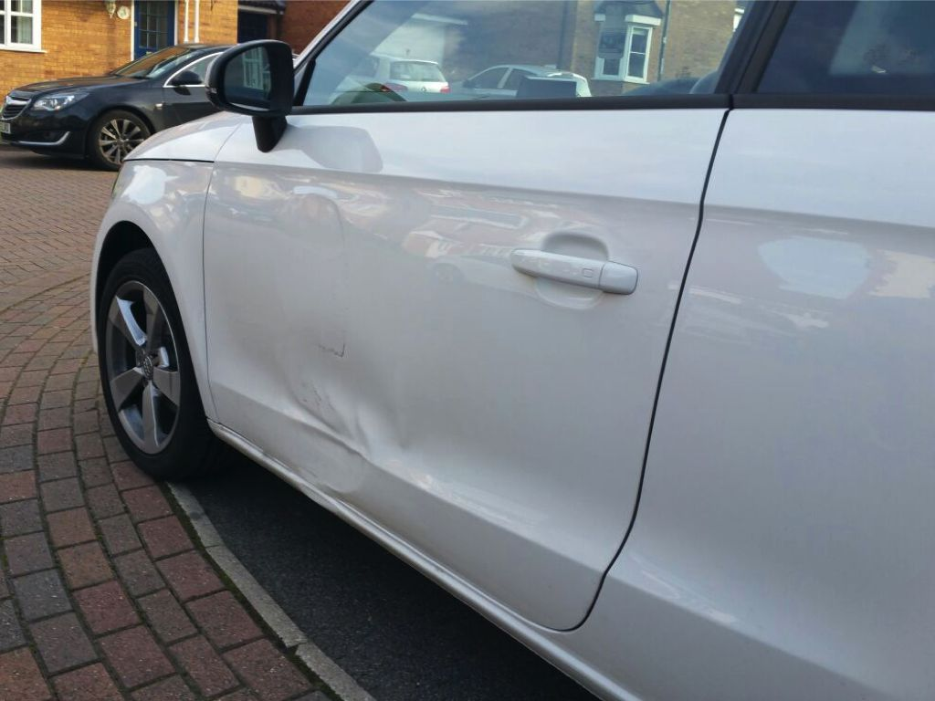 Audi A1 side damage